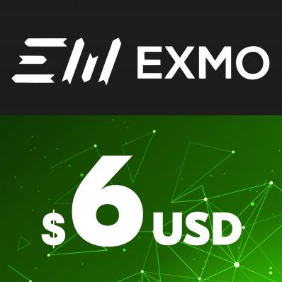 EXMO E-VOUCHER USD 6$