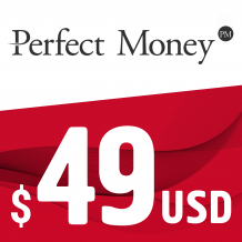 Perfect Money E-VOUCHER USD 49$