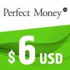 Perfect Money E-VOUCHER USD 6$