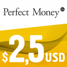 Perfect Money E-VOUCHER USD 2.5$
